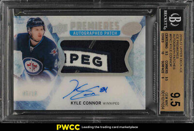 2016 Upper Deck Ice Premieres Kyle Connor ROOKIE AUTO PATCH /10 BGS 9.5 (PWCC)