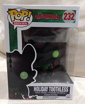 NEW Funko Pop Movies DreamWorks How to Train Your Dragon Toothless Holiday
