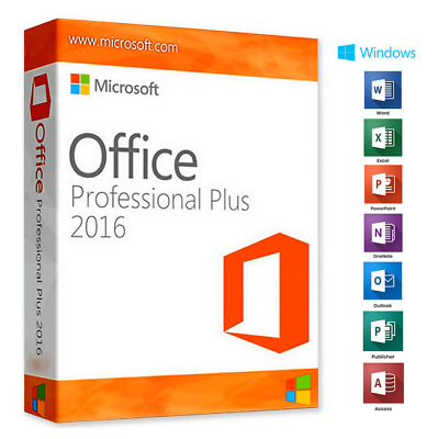 Microsoft Office 2016 Professional Plus Windows Product Key License Lifetime