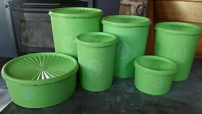 Set Of Tupperware Retro Canisters
