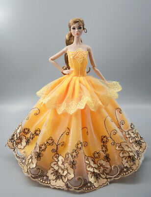 Fashion Princess Party Dress/Evening Clothes/Gown For 11.5 inch Doll b17