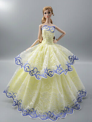 Fashion Princess Party Dress/Evening Clothes/Gown For 11.5 inch Doll b18