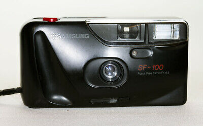 Samsung SF-100 35mm  Compact Point and Shoot Camera Auto Flash & Exposure