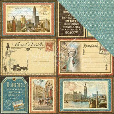 """G45 - Cityscapes Double-Sided Cardstock 12""""X12"""" - Grand Tour"""