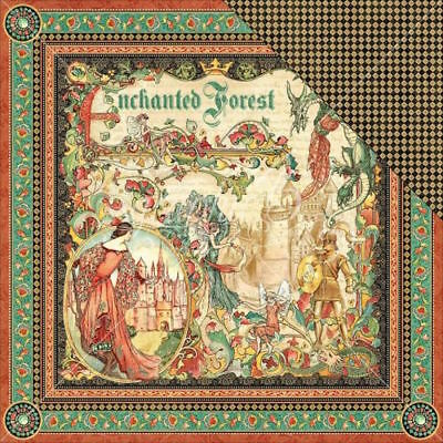 """G45 - Enchanted Forest - D/Sided Cardstock 12""""X12"""" - Enchanted Forest"""