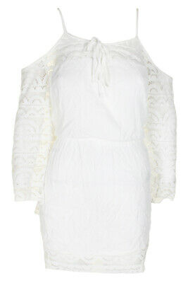 75d6764b64d Raviya Plus Size White Crochet Cold-Shoulder Dress Cover-Up 1X MSRP:$58