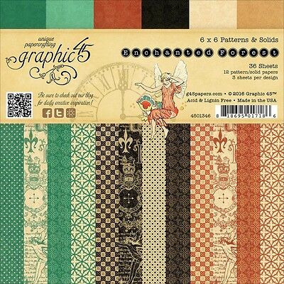 """G45 - Enchanted Forest - D/Sided Paper Pad 6""""X6"""" 36/Pkg"""