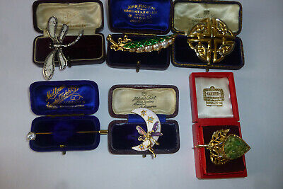Vintage Jewellery Attractive Mixed Job Lot Of Brooches Pins Various Eras