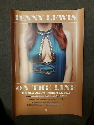 JENNY LEWIS 'ON THE LINE' POSTER (Official Promo Poster) (New)