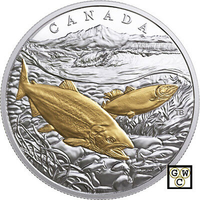 2017 Pacific Salmon- From Sea To Sea To Sea' Prf $20 .9999Silver 1oz.Coin(18257)
