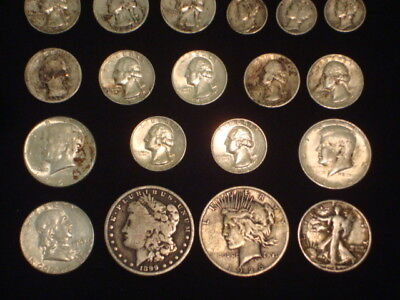 $10 Face Value Lot Of 90% Silver U.s. Coins Mixed Variety L16