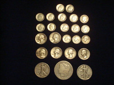 $5 Face Value Lot Of 90% Silver U.s. Coins Mixed Variety L13