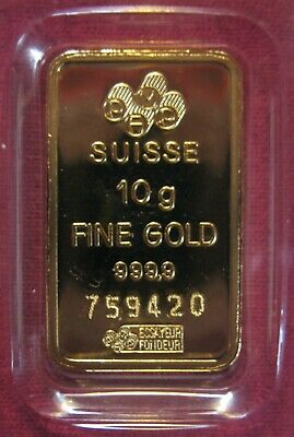 🌠 10 Gram PAMP SUISSE Fortuna GOLD Bar 🌠  999.9 CERTIFIED Pure GOLD 🌠