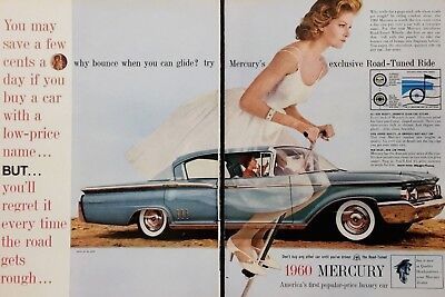 1960 Mercury Montclair Blue Why Bounce When You Can Ride Woman On Pogo Ad