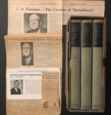 CS Forester Lot - 1939 Capt. Horatio Hornblower set & 1966 newspaper obituaries