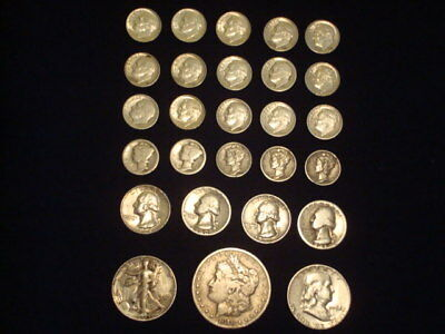 $5 Face Value Lot Of 90% Silver U.s. Coins Mixed Variety L5