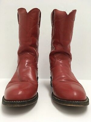 82fd8709159 Justin Women s Sz 6.5 B Ropers Round Toe Red Leather Western Cowboy Boots  L3055
