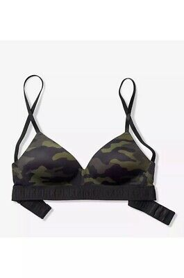 8574731a912 Victoria s Secret PINK Wear Everywhere Lightly Lined Wireless Bra Size 34B  Camo