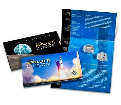 2019 Apollo 11 50th Anniversary 2019 Proof Half Dollar Set SOLD OUT