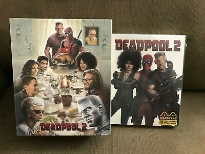 Deadpool 2 Blu-Ray Caja Metálica [ Manta Lab ] + 4k Uhd Funda Completa Region