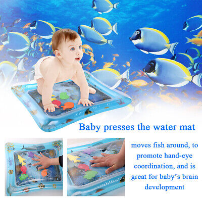 PVC Inflatable Fun Water Play Mat for Kids Baby Children Infants Tummy Time L1T3