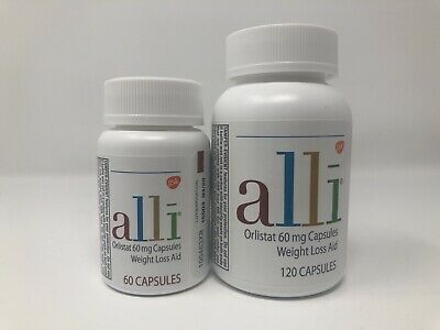 2 ~ Alli Orlistat 60mg Weight Loss Aid ~ 180 Capsules Total ~ 07/2020 & 03/2020