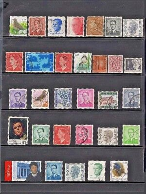 Belgium, 31 stamps, mostly 20th Century