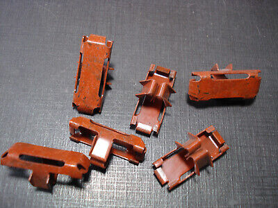 6 pcs NOS front door lower moulding clips fits 1953 1954 Chevy Bel Air & Two Ten