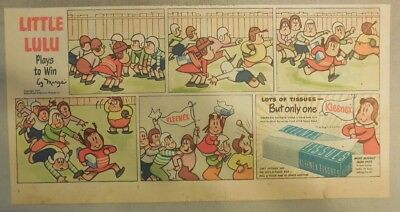 Kleenex Tissue Ad: Little Lulu by Marge' from 1930's - 50's 7 x 15 inches