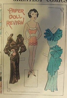Blondie Sunday by Chic Young from 10/14/1934 Rare Paper Doll Full Page Size !