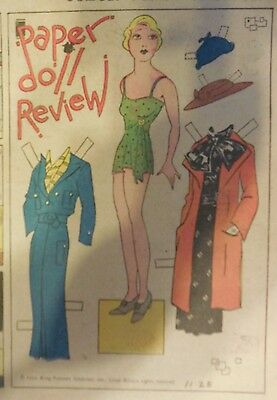 Blondie Sunday by Chic Young from 11/25/1934 Rare Paper Doll Full Page Size !