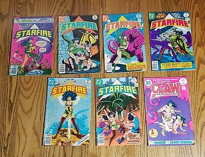Starfire #1,4,5,6,7,8 Claw the Unconquered #1 - DC 1975/1976 - 7 comic lot