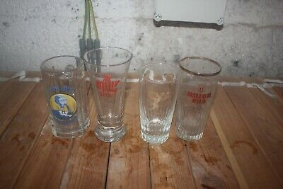 4  verre ATLAS MILL S STOUT BIERE BEER UNION PILS