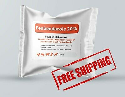 Fenbendazole 20% 100g Powder De-wormer Panacur Safe Guard Dog Cat