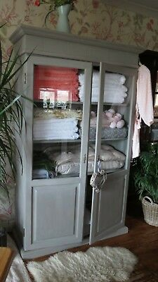 Solid Pine Housekeepers cupboard, linen press. .Kitchen display cabinet.