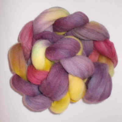 19 Micron Merino Tops Hand Dyed 100 grams- Multi coloured