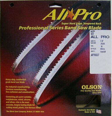 "Olson AP70337 137"" All Pro Band Saw Blade 1/8"" x .025"" 14 TPI Style Regular"
