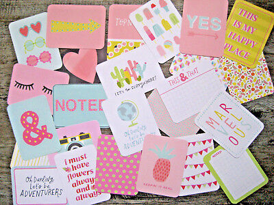 """'happy Place' Project Life Cards By Becky Higgins - 3"""" X 4"""" - 25 Cards"""