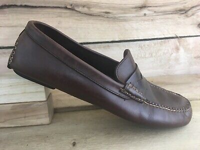 4485b2df6d5 COACH MENS BROWN Leather Randolf Penny Loafer Dress Shoes 1827 Size ...