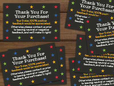 Thank you for your purchase 5 star shipping labels stickers black 25-1000 2x3