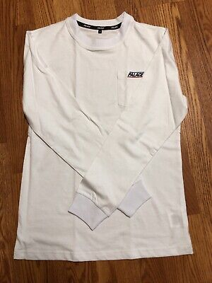 9c904f60 PALACE BASICALLY A Pocket Longsleeve White - S - $80.00 | PicClick