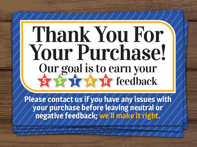 *ORIGINAL* Thank you for your purchase 5 star shipping labels stickers blue