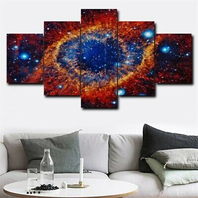 5Pcs Dreamy Space Sky Eye Art Picture Modern Home Decor Canvas Oil Wall Painting