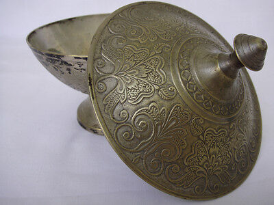 Antique Vintage - Silver Plated Brass Moroccan Bowl