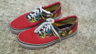 2c23eb2f69 Vans Limited Edition Marvel Comics Ironman Tennis Shoes Mens 9 Womens 10.5