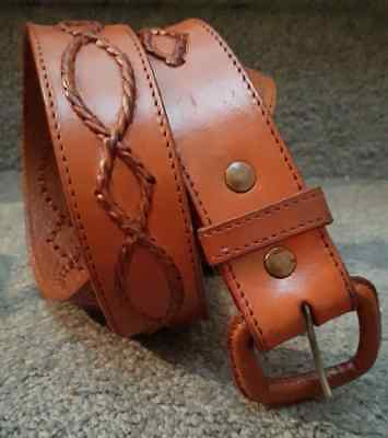 As New Hand Made Genuine Full Grain Leather Quality Belt made in Mexico