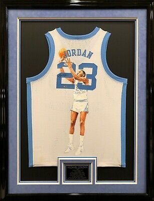 c539b41977ad Michael Jordan Signed Framed Hand Painted North Carolina Tar Heels Jersey  UDA
