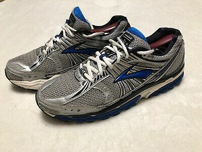 2dabfe185d09b Brooks Beast Mens 10.5 D Running Shoes Blue White Athletic Lace Up Cushioned