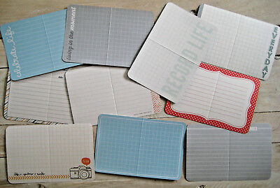 """'jade' Project Life Cards By Becky Higgins -6"""" X 4"""" Bifold"""