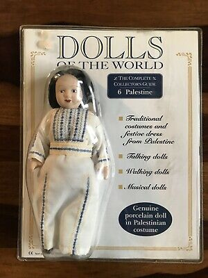 Vintage Collectable Dolls Of The World Unopened Palestine #6  With Magazine